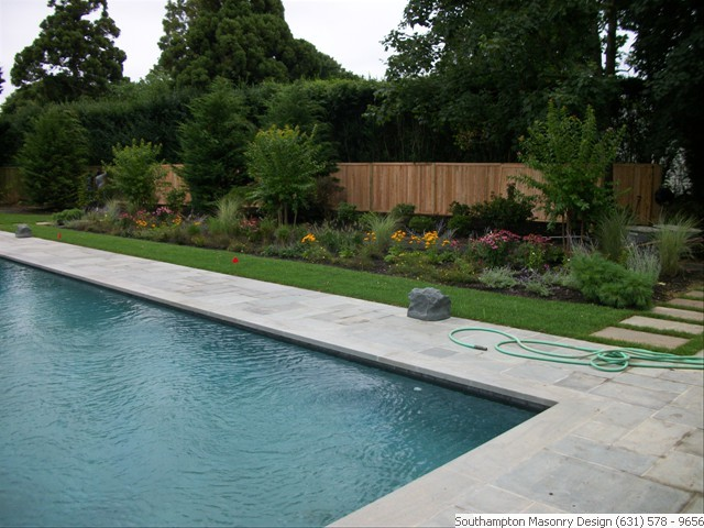 ... Bluestone Pool Patio And Landscaping ...