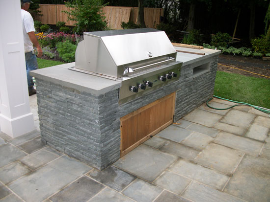 Stone firepits and outdoor bbq grilling assembly servicing for Outdoor cooking station plans