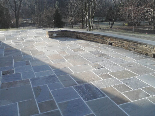 Blue Stone Patio. Paver Patio Installation