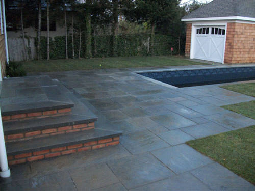Good Blue Stone Patio U0026 Steps